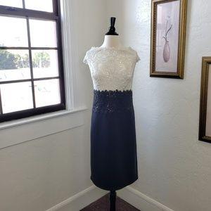 Tadashi Shoji ~ Black/White Sequin Dress ~ Sz 18Q